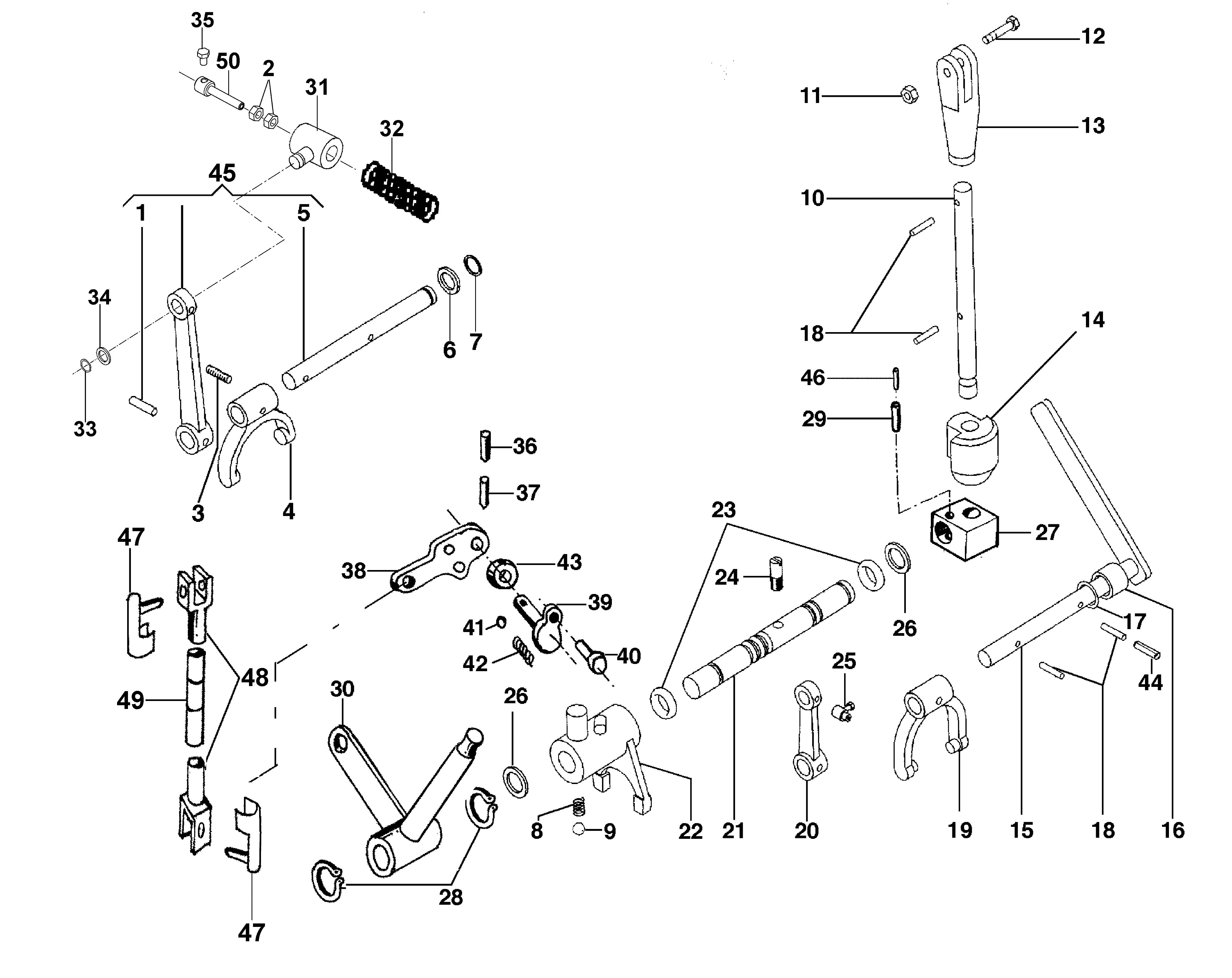 BRIK 3 (EN 709) Motoculteur OLEOMAC NIBBI vue éclatée Dessins pièces -  Commandes intérieurs