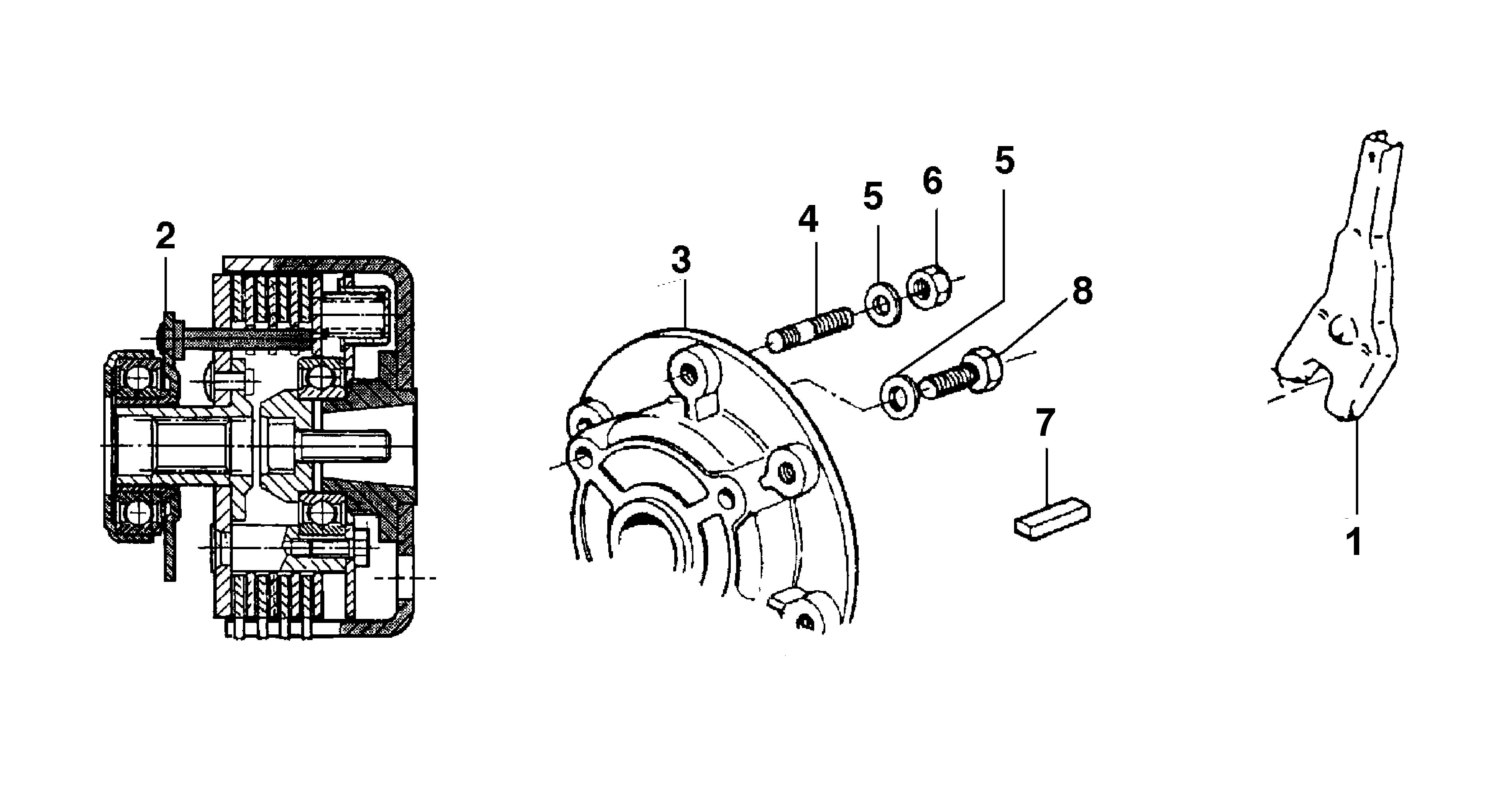 KAM 5 JUNIOR (Solo per il mercato francese) Motoculteur OLEOMAC NIBBI vue éclatée  Dessins pièces -  Embrayage