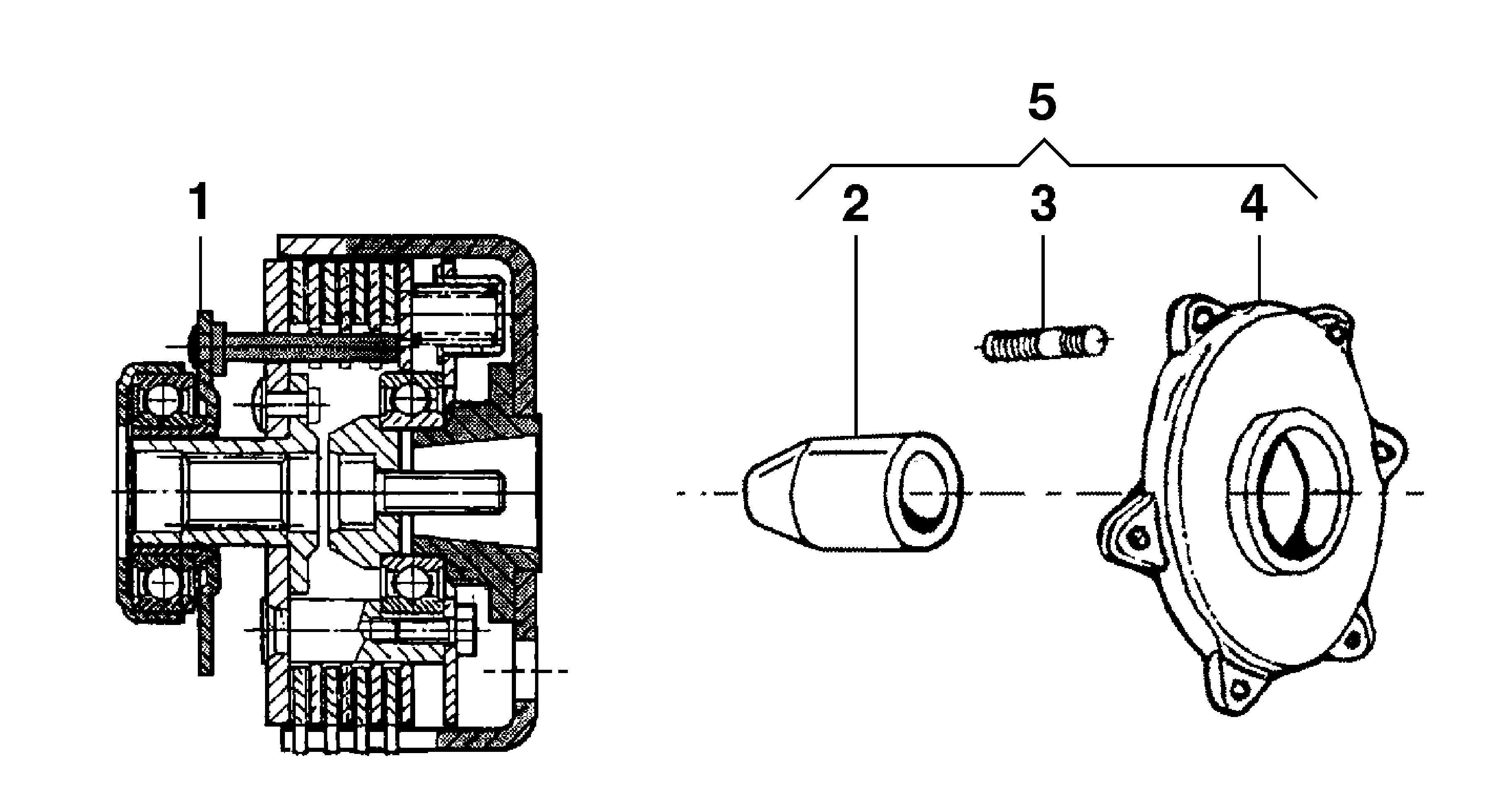 BRIK 3 (EN 709) Motoculteur OLEOMAC NIBBI vue éclatée Dessins pièces -  Embrayage 3 disques