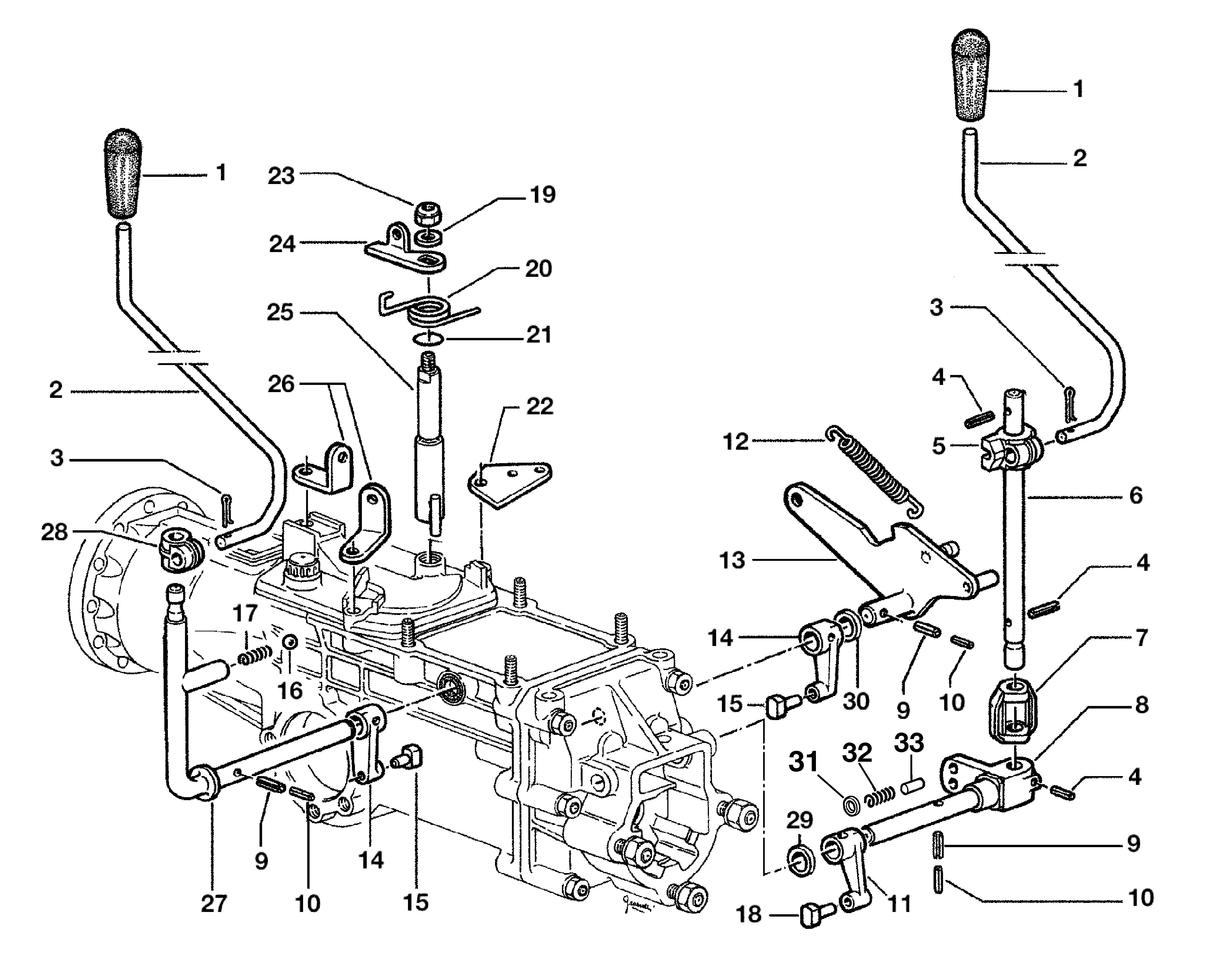 KAM 5 HF Motoculteur  OLEOMAC NIBBI vue éclatée  Dessins pièces -  Commandes intérieurs