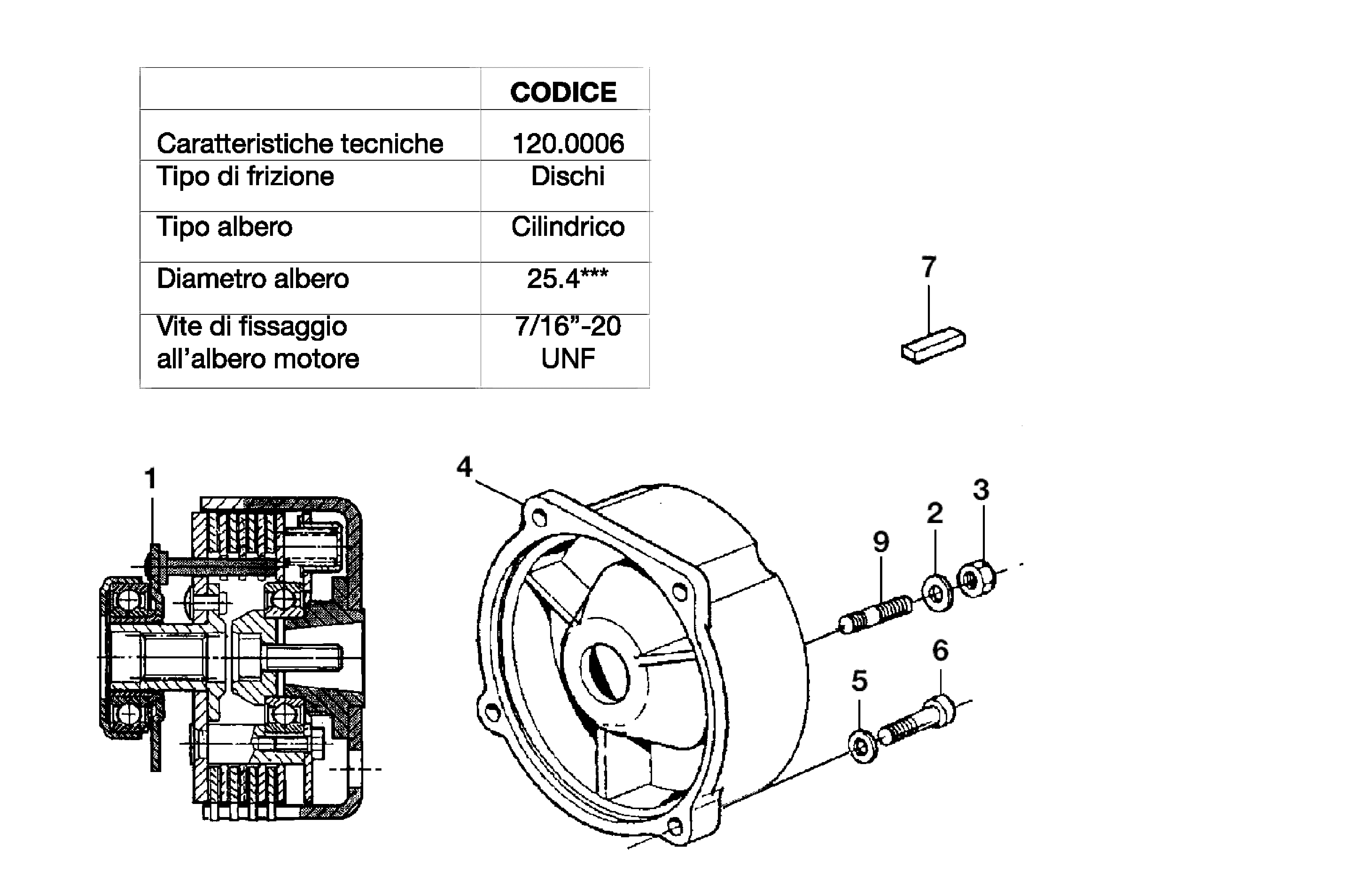 KAM 5 HF Motoculteur  OLEOMAC NIBBI vue éclatée  Dessins pièces -  Embrayage