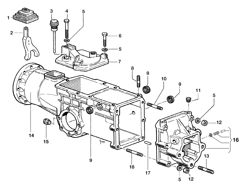 KAM 5 HF Motoculteur  OLEOMAC NIBBI vue éclatée  Dessins pièces -  Boite à vitesse