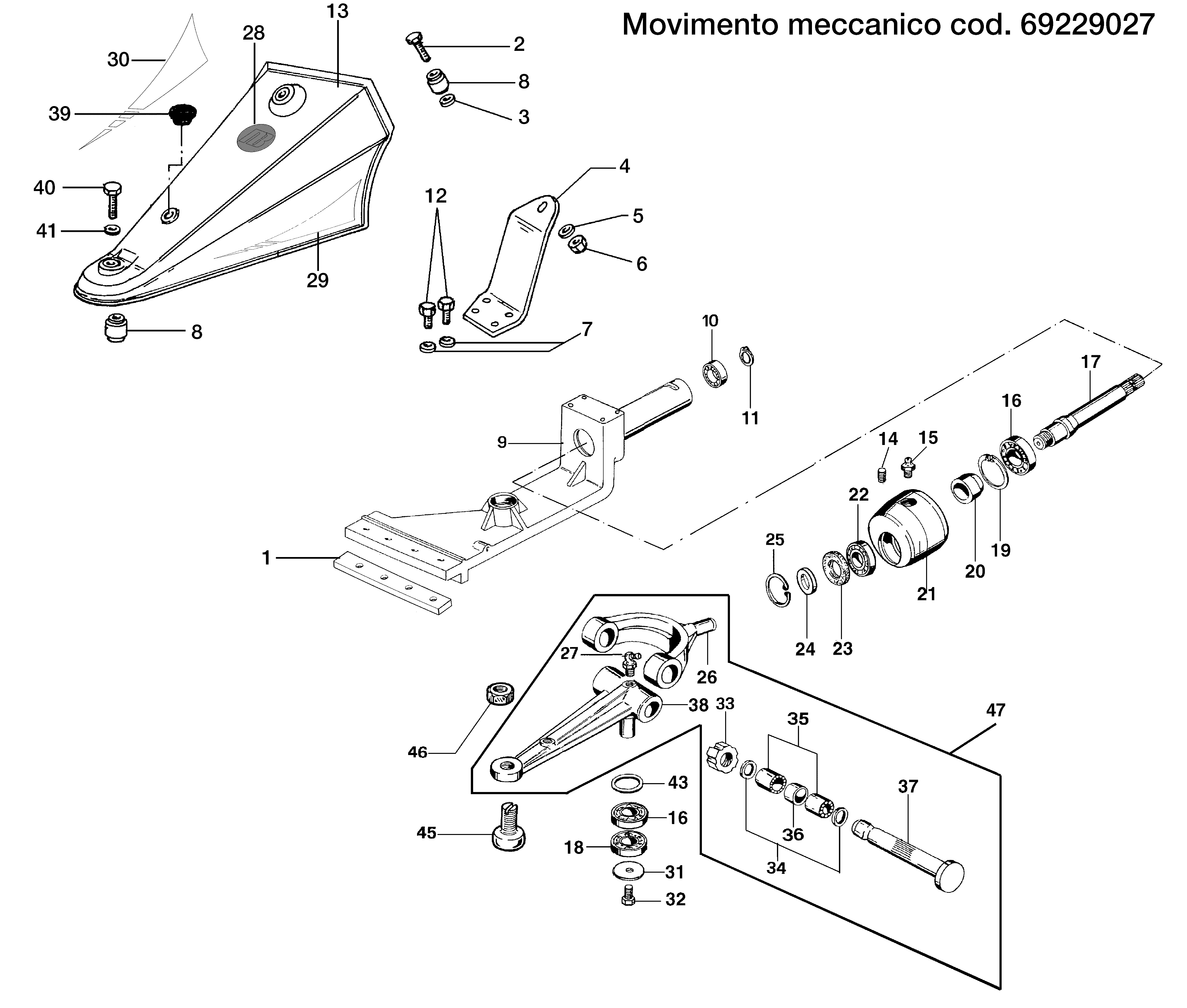 BRIK 3 (EN 709) Motoculteur OLEOMAC NIBBI vue éclatée Dessins pièces -  Mouvement mécanique 69229027