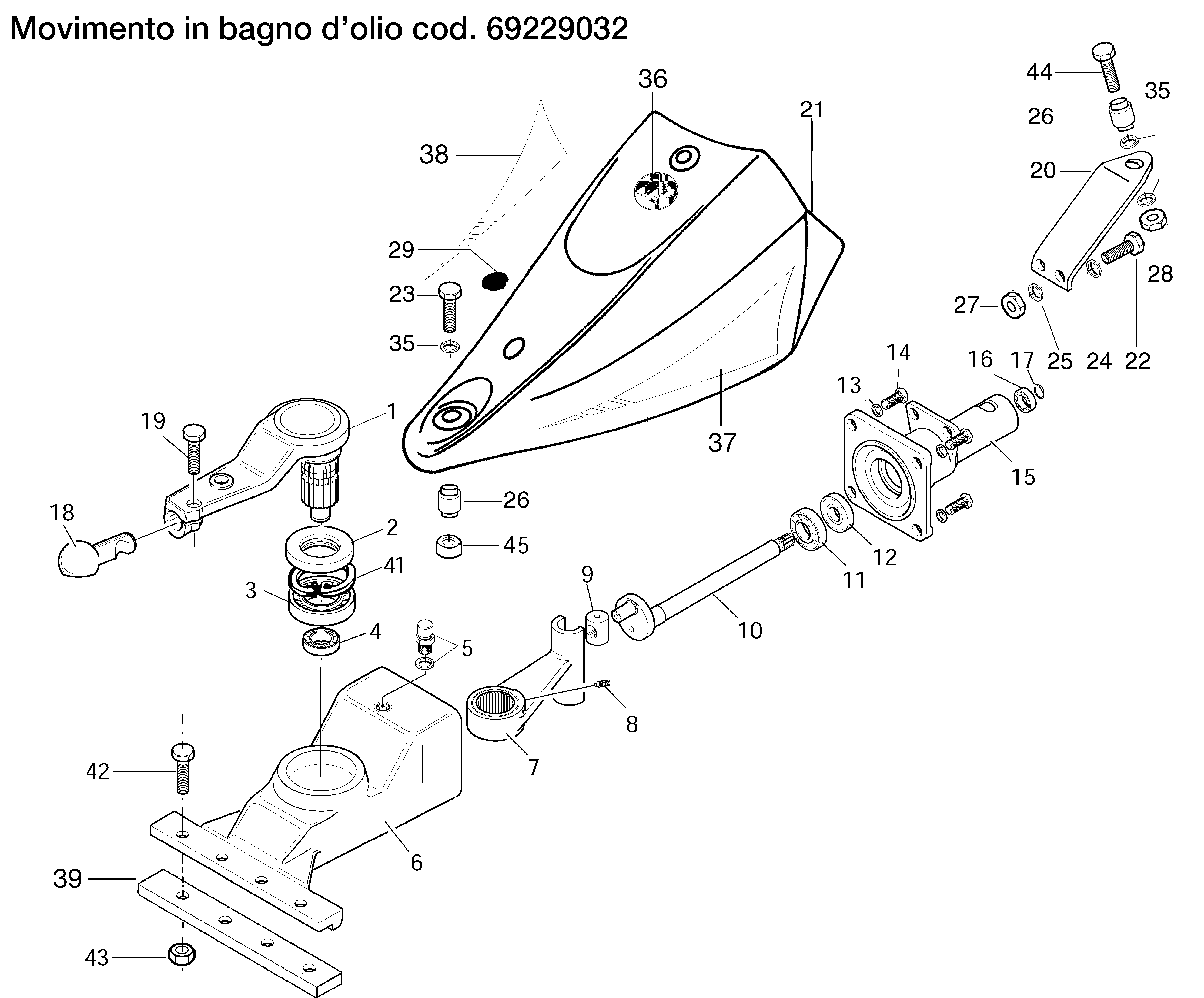 BRIK 3 (EN 709) Motoculteur OLEOMAC NIBBI vue éclatée Dessins pièces -  Mouvement en bain d huile 69229032
