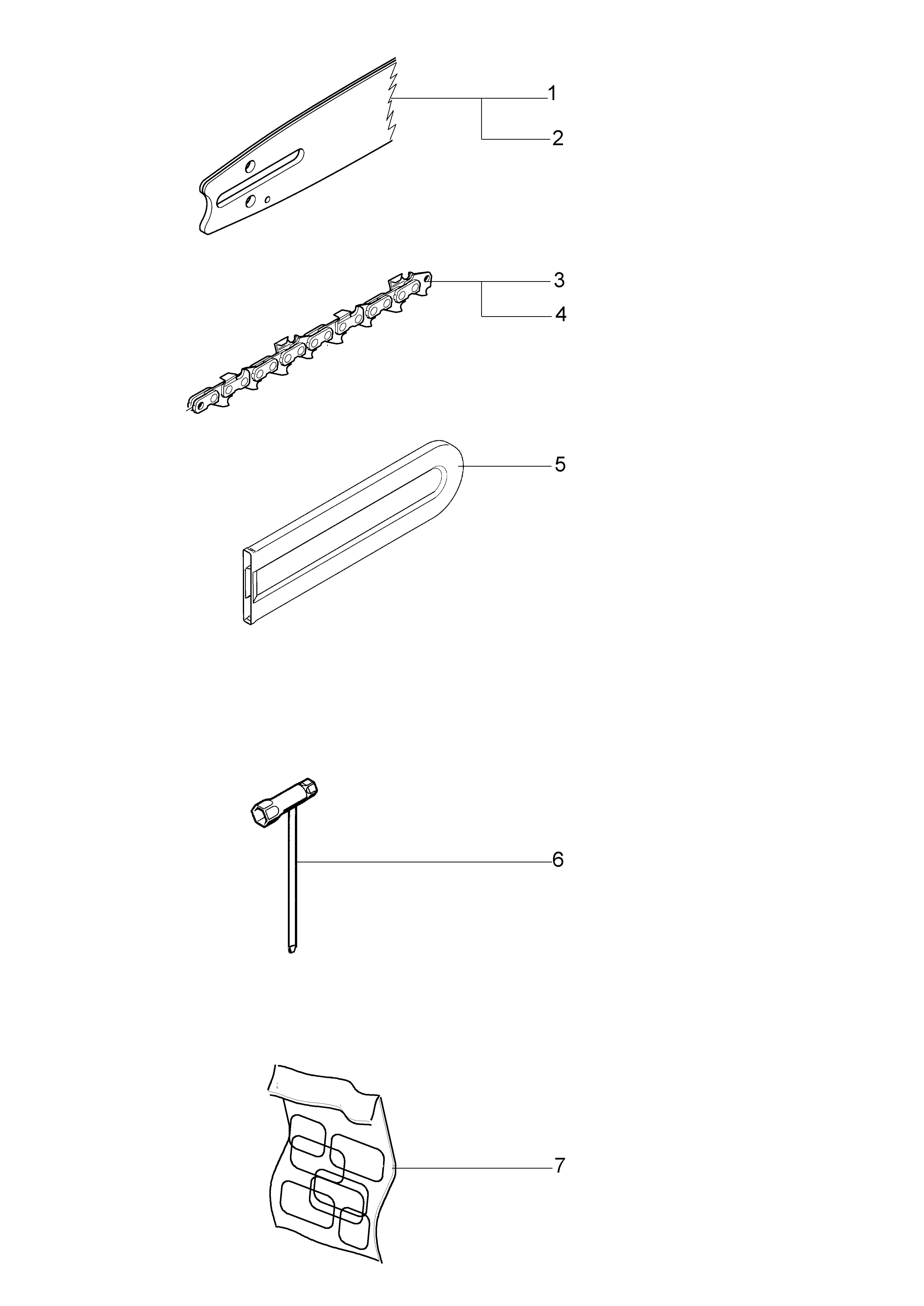 OM 1800 E oleomac Dessins pièces vue éclatée Accessoires
