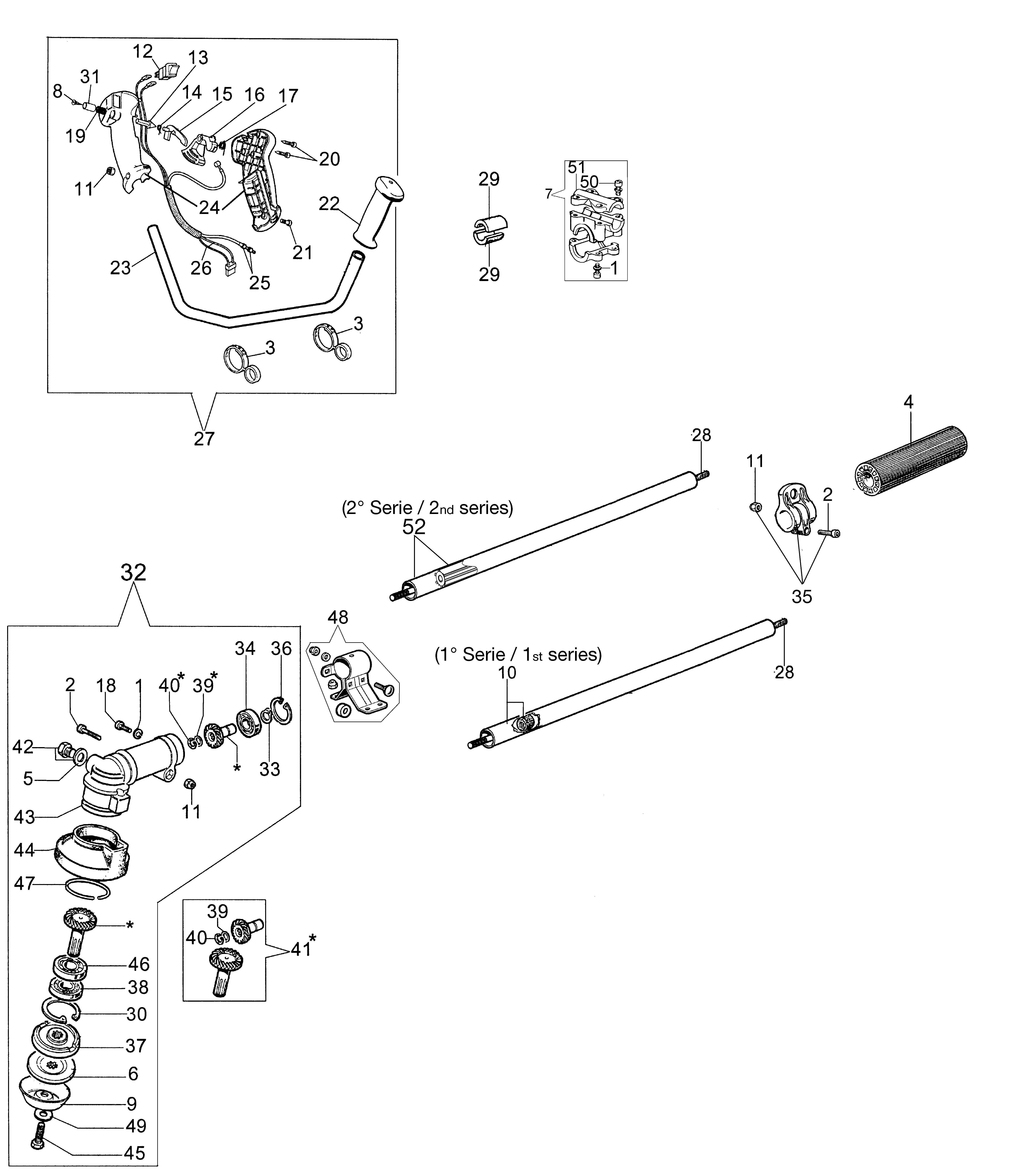SPARTA 250 T (Euro2) oleomac Dessins pièces vue éclatée Transmission