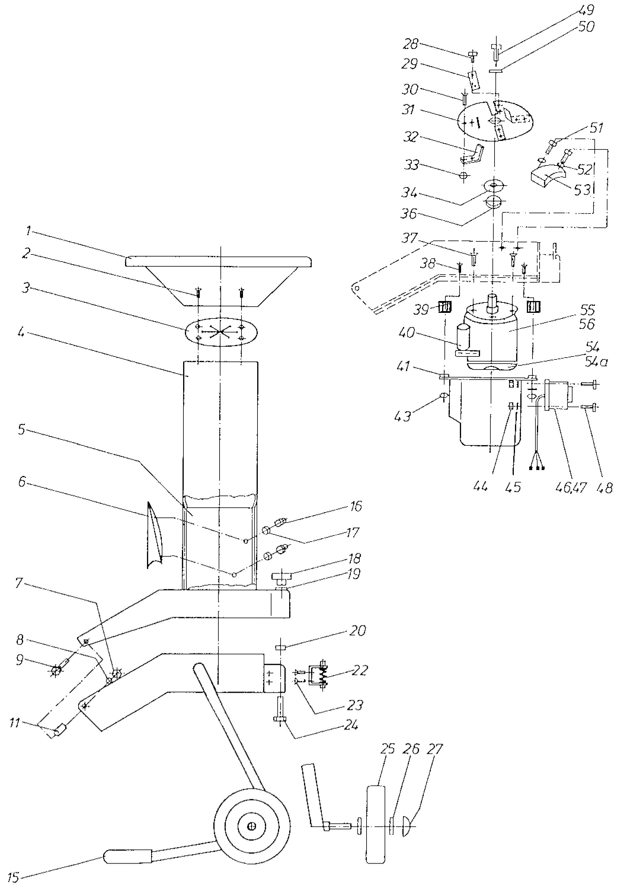 SH 210 E Broyeur à végétaux OLEOMAC Dessins pièces -  Vue éclatée
