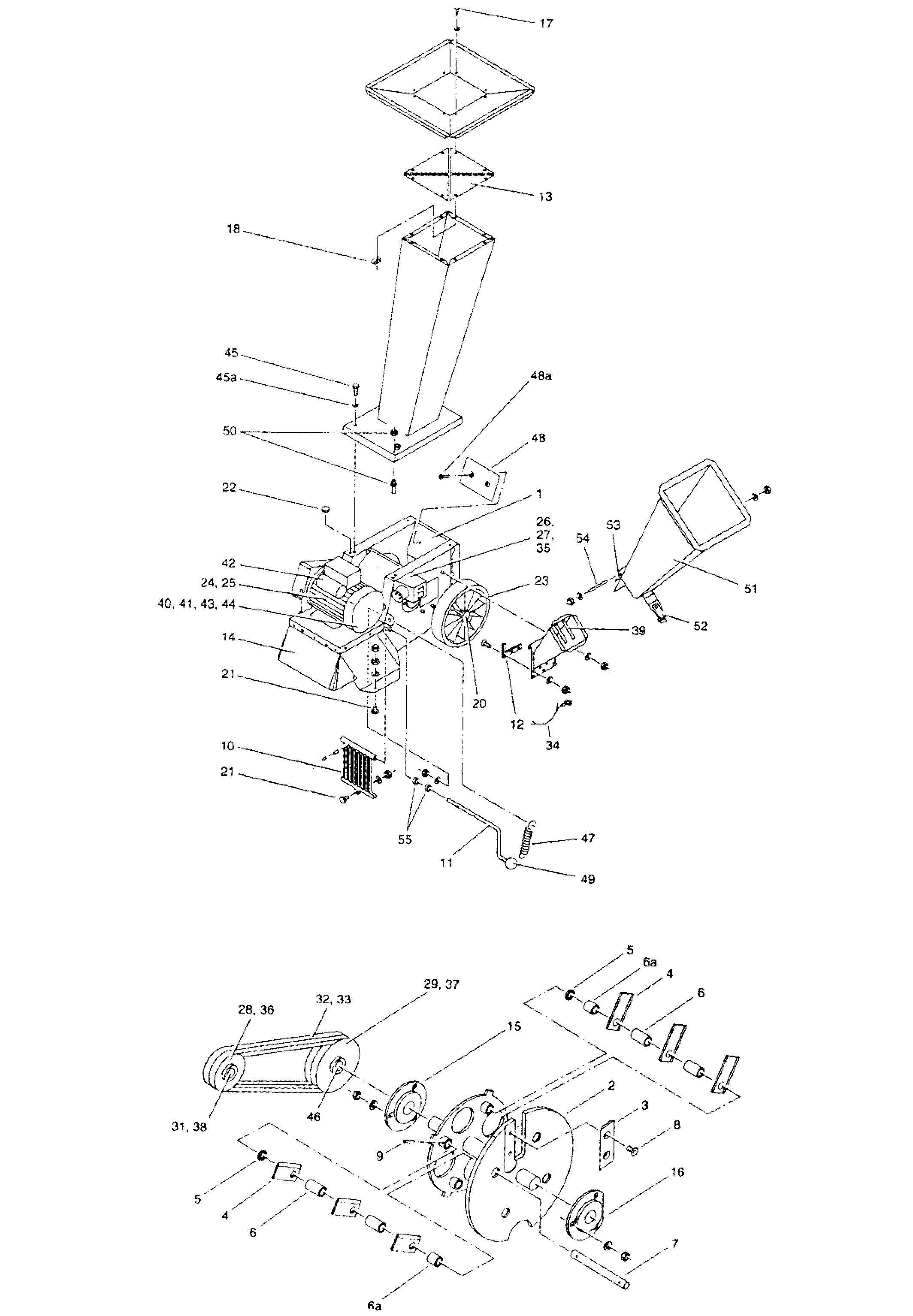 SH 550 oleomac Dessins pièces -  Vue éclatée
