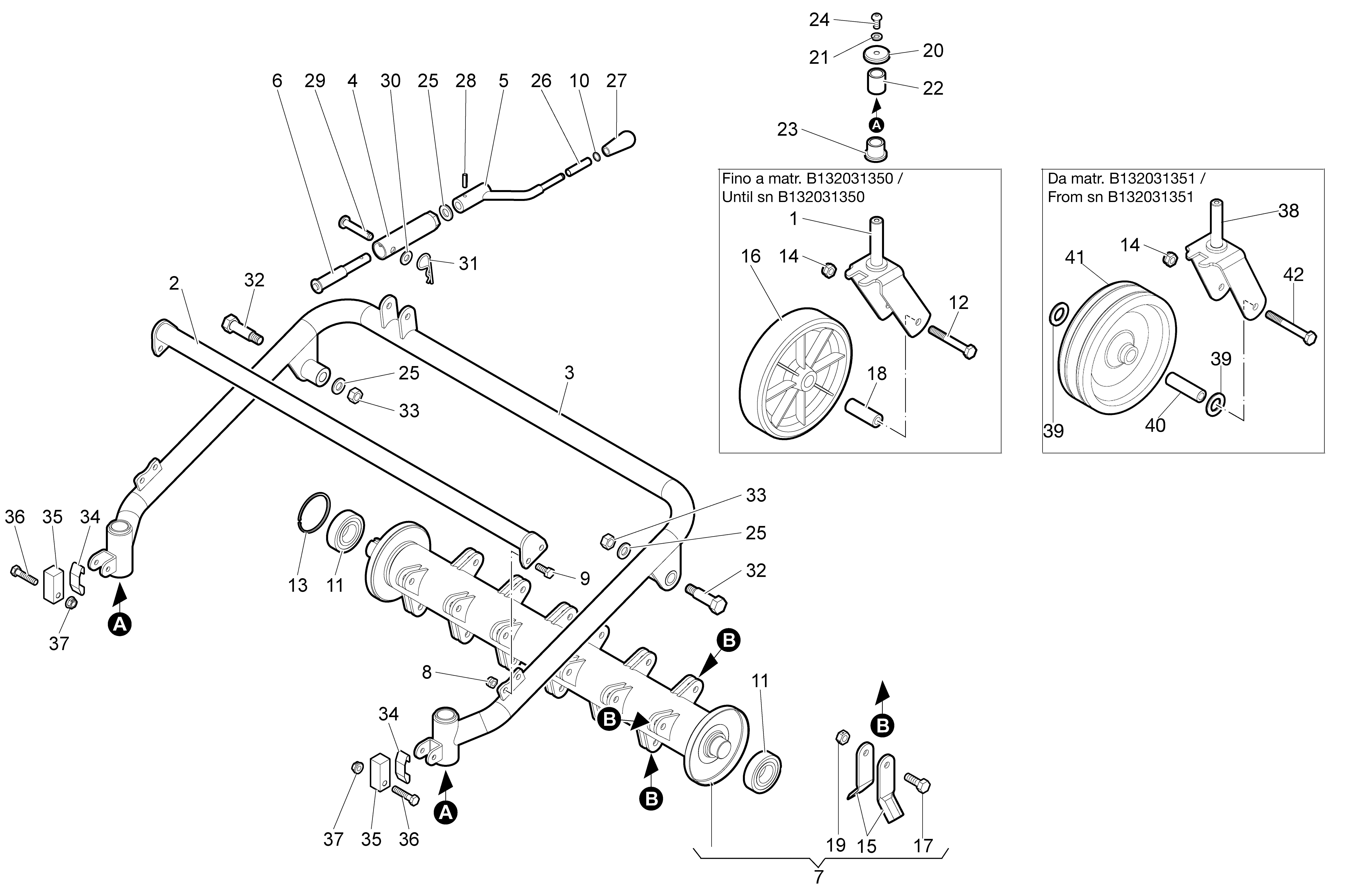 WB 80 KR 11 Tondeuse à fléaux  Oleomac Vue éclatée  Dessins pièces -  Groupe coupe (Rotor)