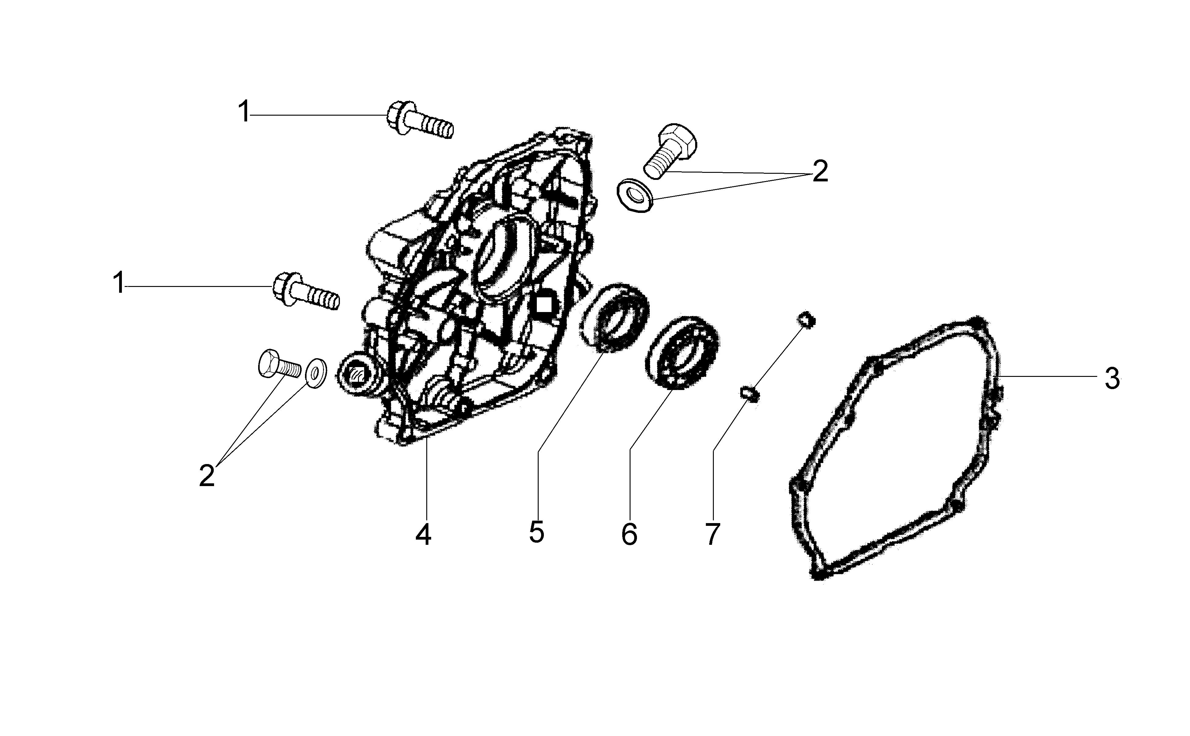 MH 180R - MH 180RK (K700 H) (EN709) Motobineuse oleomac Dessins pièces vue éclatée Couvercle soubassement