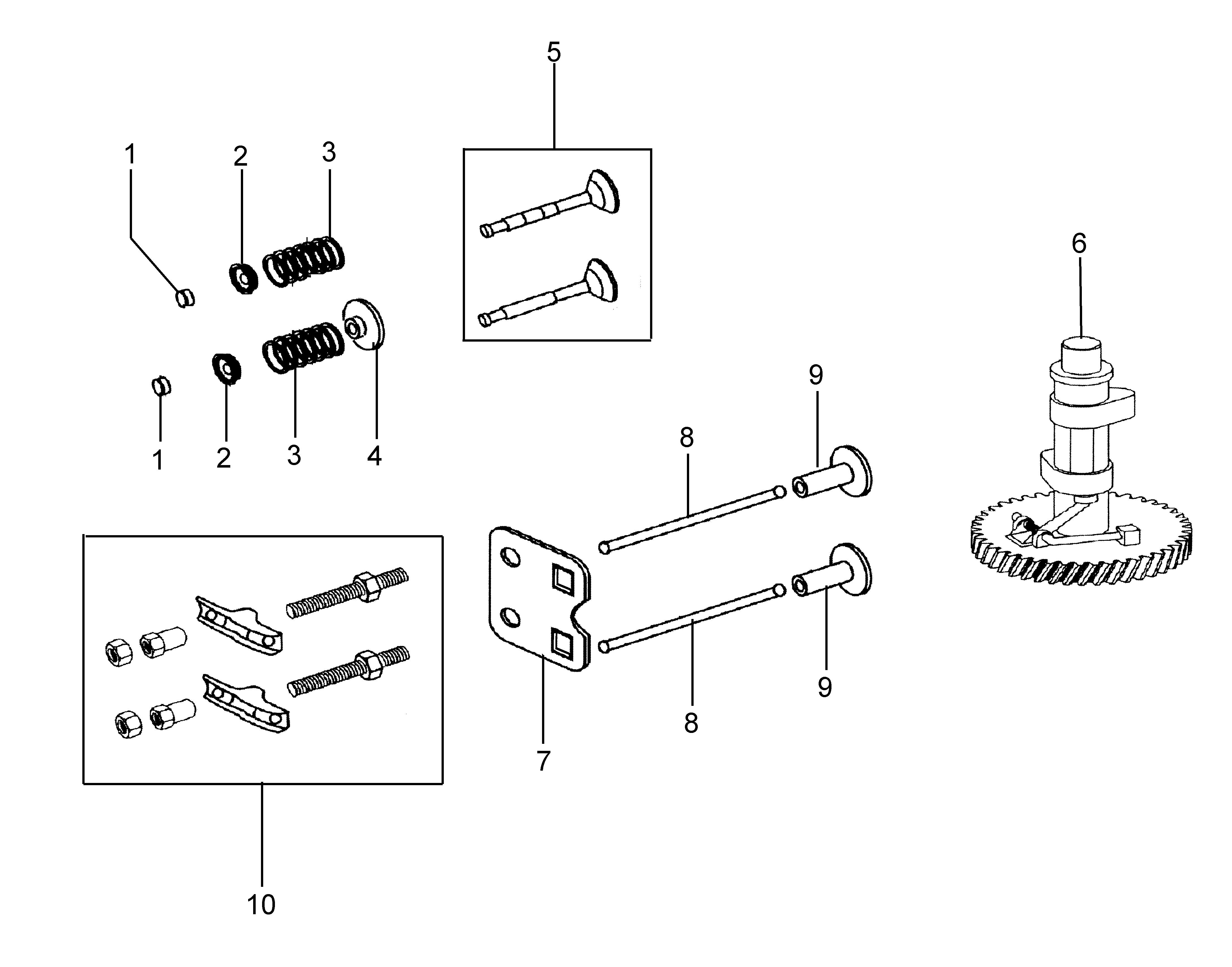 MH 180R - MH 180RK (K700 H) (EN709)Motobineuse oleomac Dessins pièces vue éclatée Soupape et régulateur