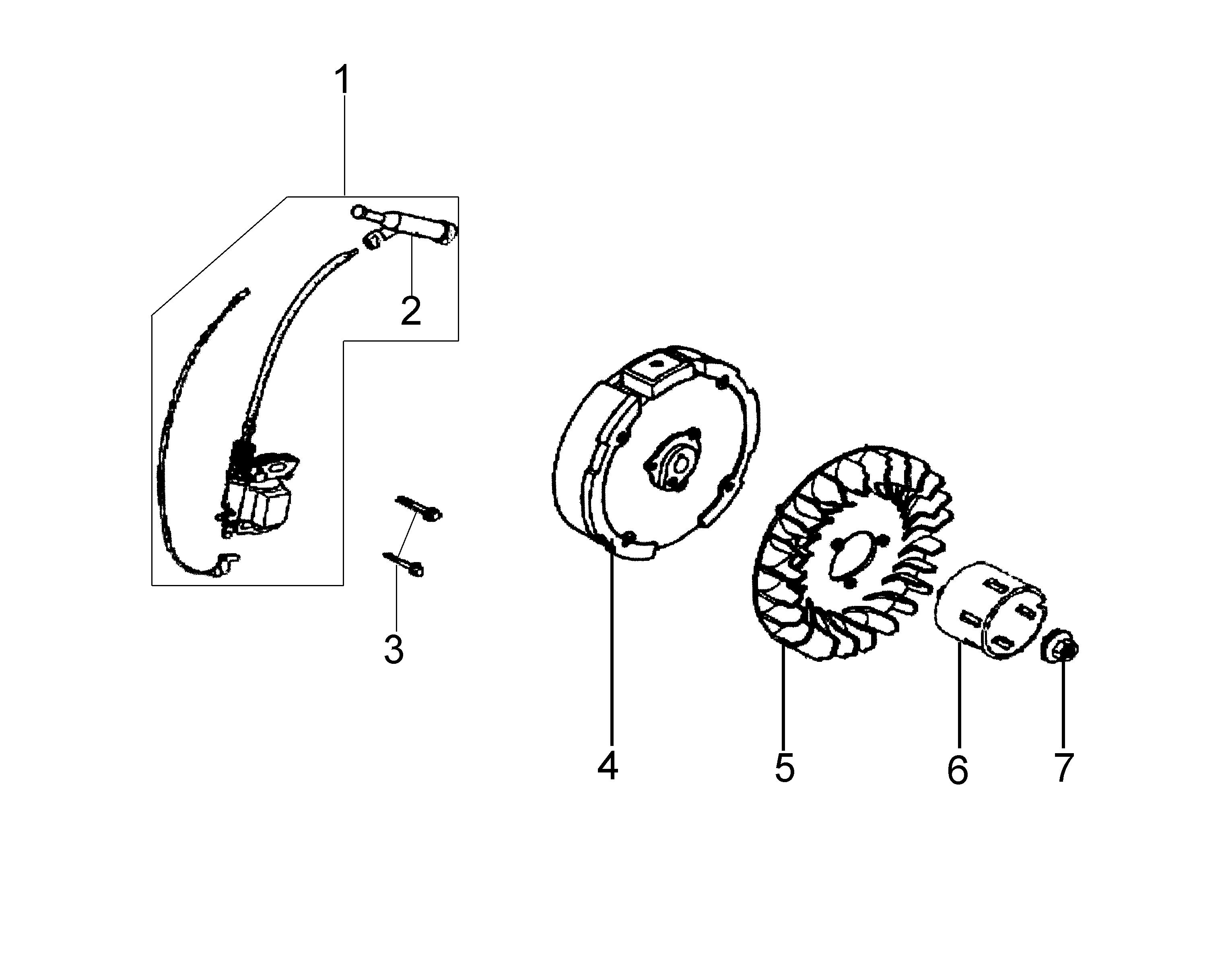 MH 180R - MH 180RK (K700 H) (EN709) Motobineuse oleomac Dessins pièces vue éclatée Volant et bobine