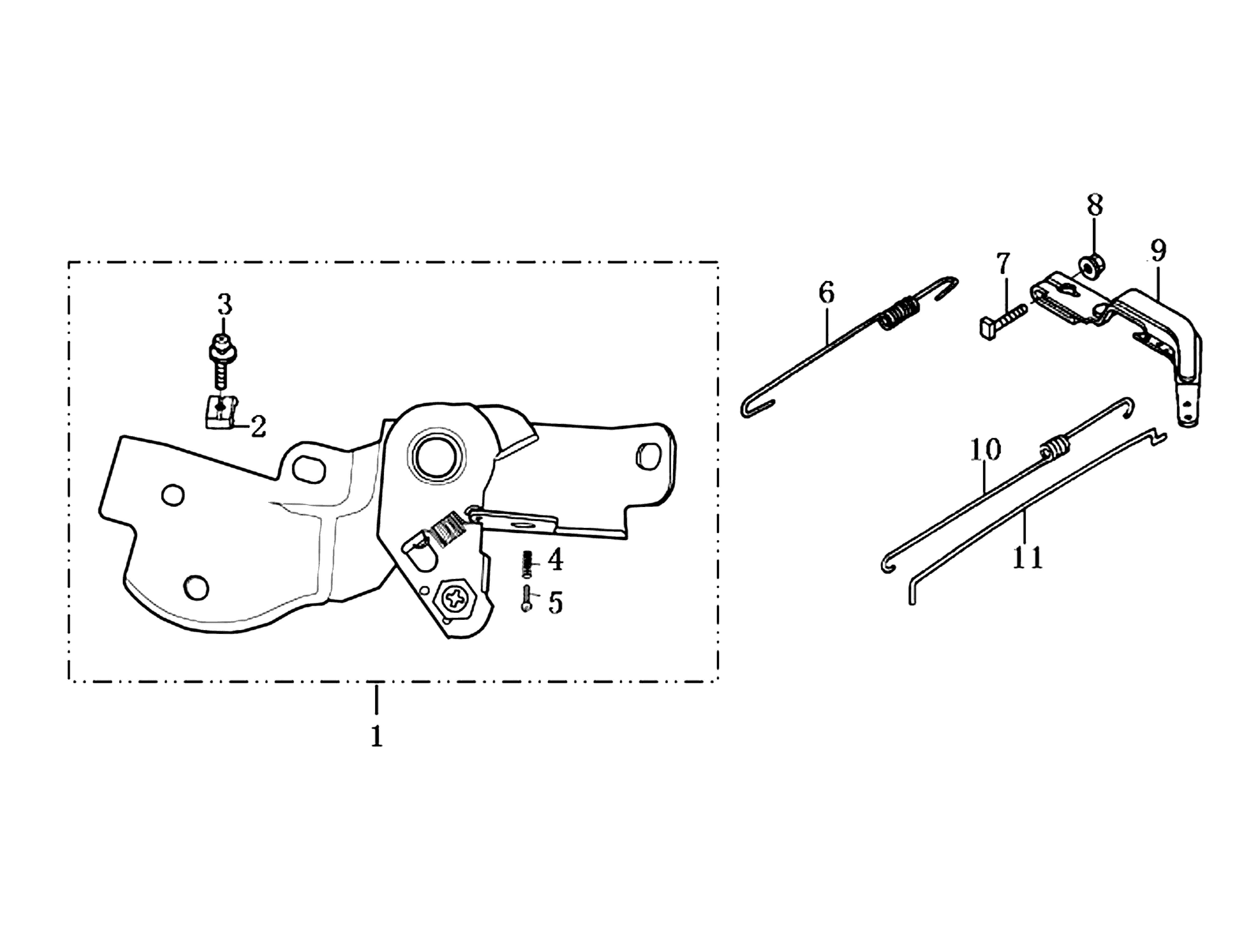 MH 180R - MH 180RK (K700 H) (EN709) Motobineuse oleomac Dessins pièces vue écltée Levier complète