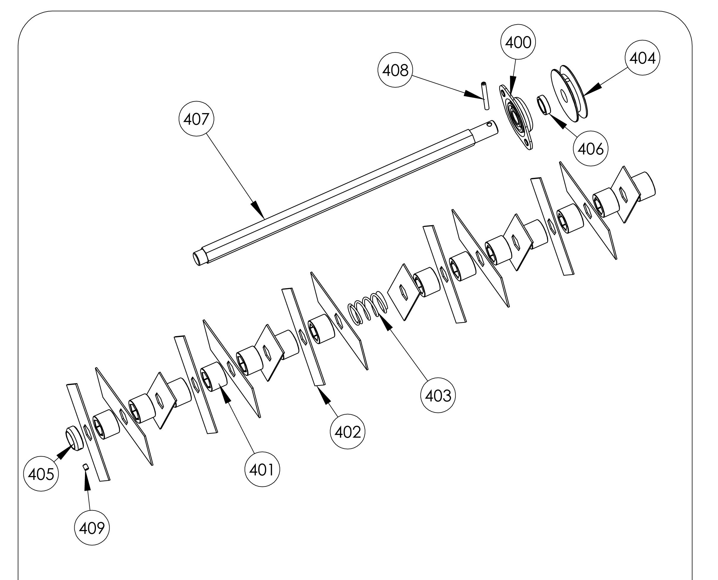 SCA elec Scarificateur OLEOMAC vue éclatée Dessins pièces -  Outils