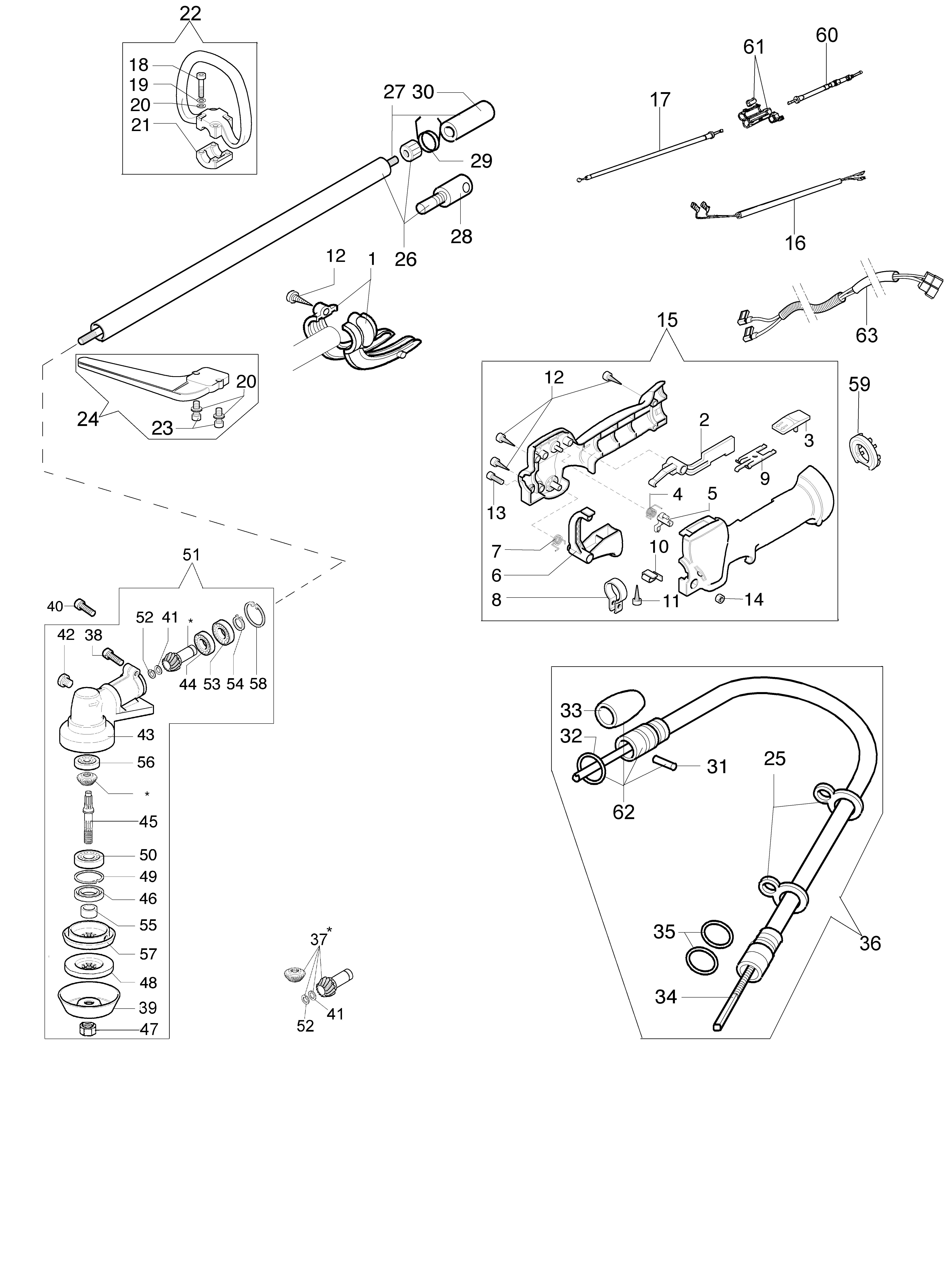 SPARTA 440 BP (Euro2) oleomac Dessins pièces vue éclatée Transmission