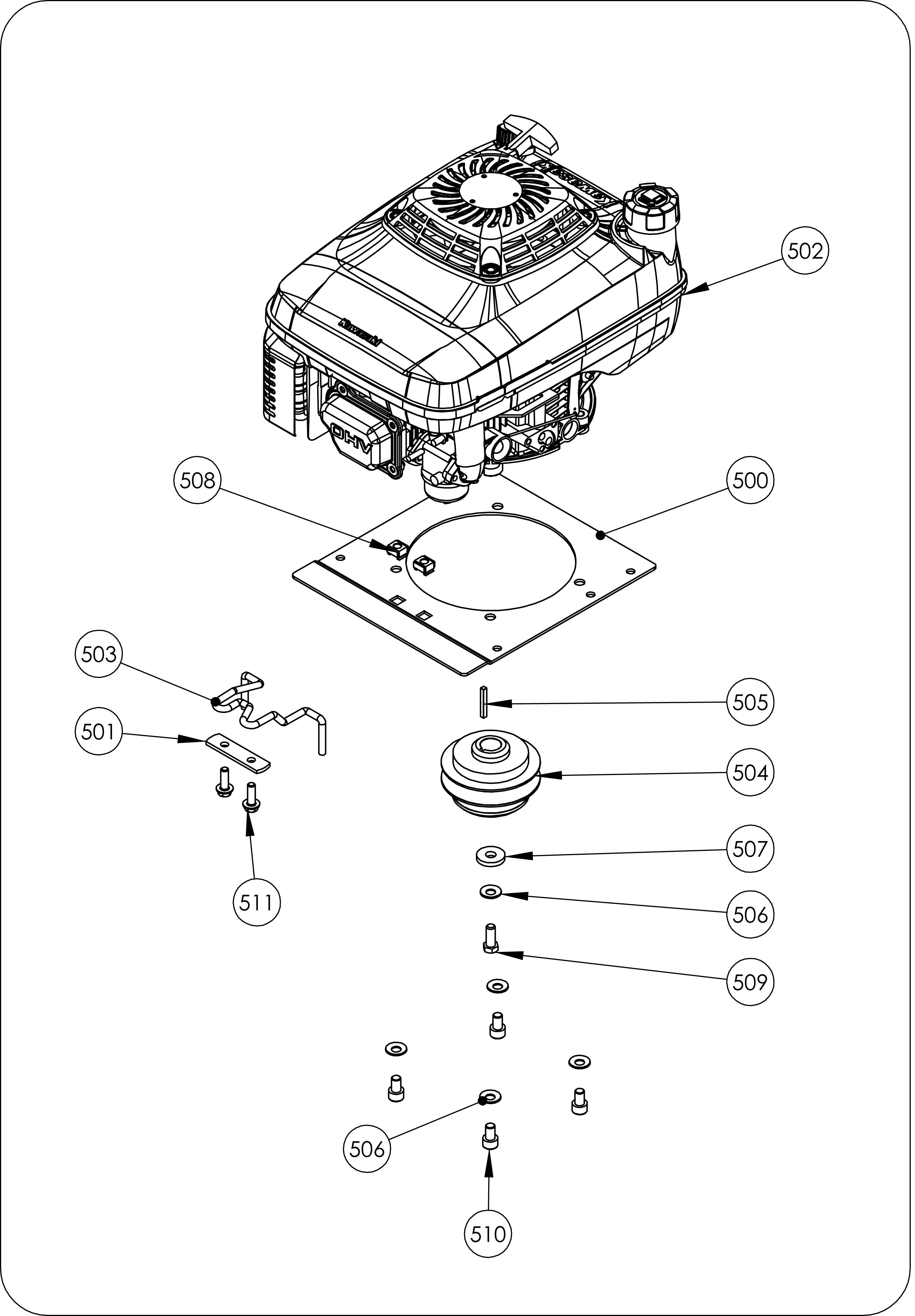 TDF 60 Débroussailleuse à roues  oleomac vue éclatée  Dessins pièces -  Moteur