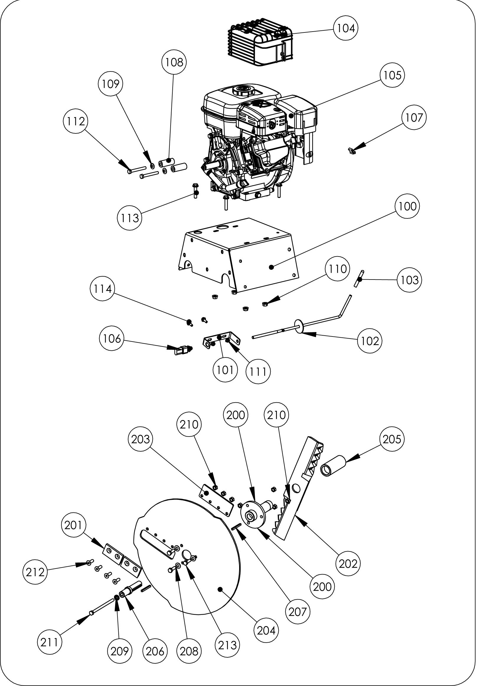 omb 6 broyeur thermique ol u00e9o-mac - mat u00e9riel motoculture