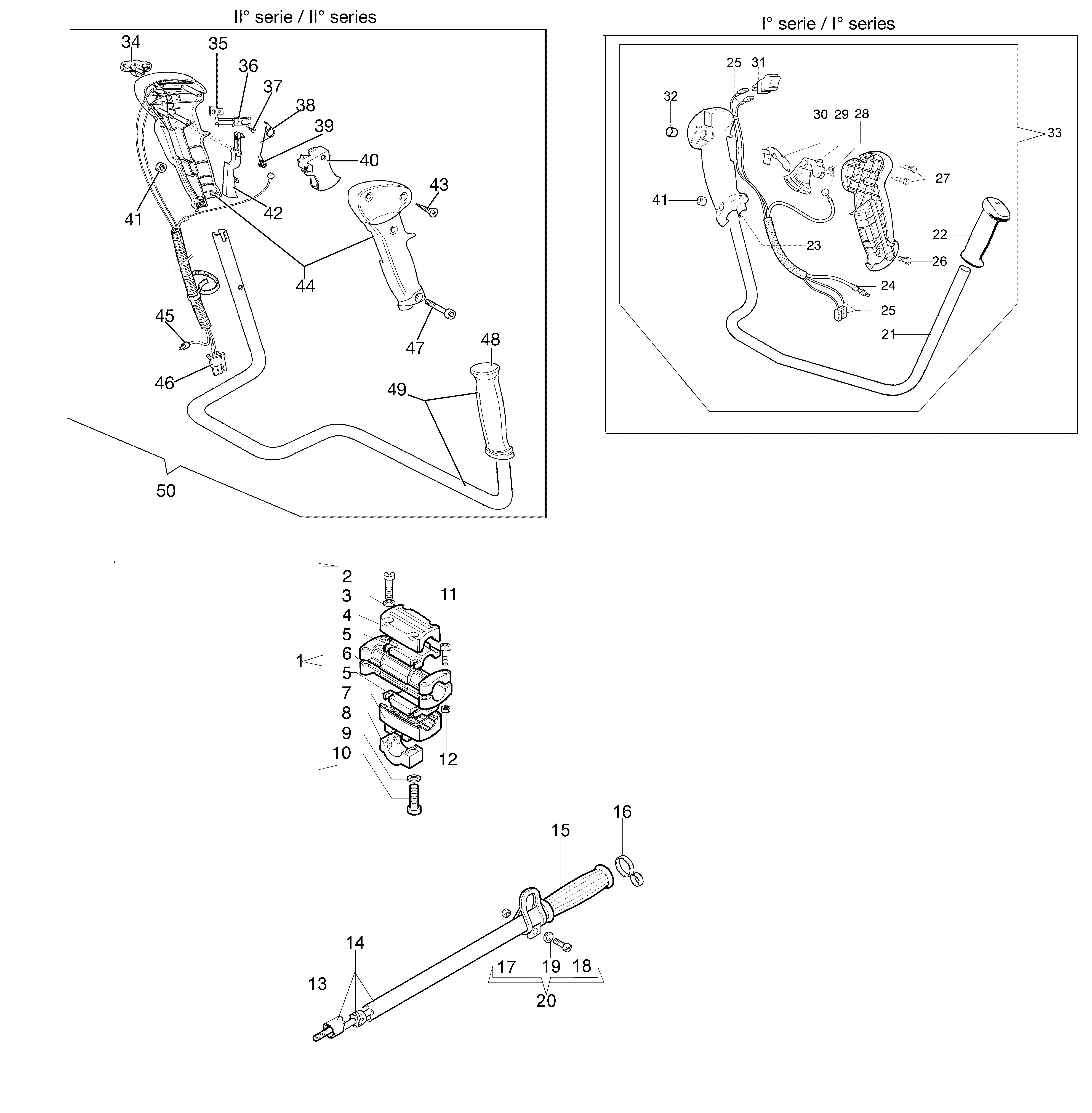 746 T Débroussailleuse oleomac Dessins pièces vue éclatée Transmission